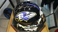 Flacco Autographed Game Helmet w/ Case