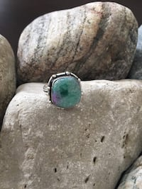925 STERLING SILVER NATURAL QUARTZ DRUZY RING - SIZE 8! Burlington, L7L 7J4