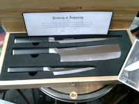 Kamikoto chiefs knife set with wooded case Burtonsville, 20866