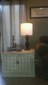 white and brown wooden table lamp Surprise, 85388