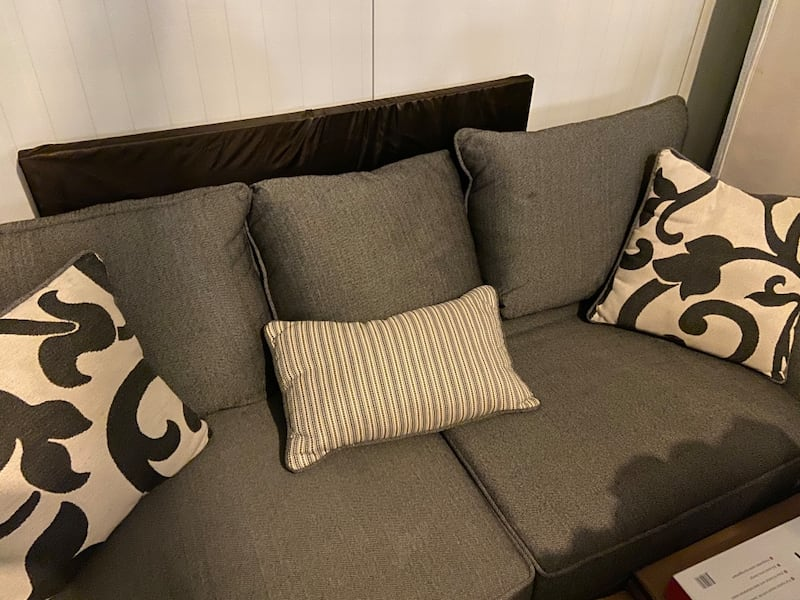 Need gone ASAP Like-new Condition Gray Sofa and Cushions (NEGOTIABLE)  5203d5d1-b14a-4b9e-a504-08fde25dd6d3