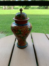 Red Cloisonné Ginger Jar Pembroke Pines, 33026