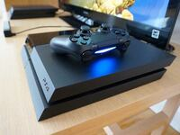 Black sony ps4 console with controller Ashburn, 20147
