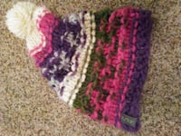 purple and white knitted textile 2037 mi