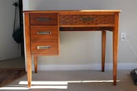 Brown wooden Desk/ Vanity