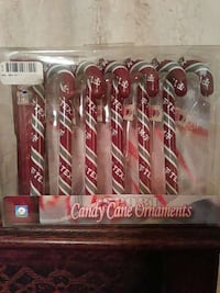 Texas A & M candy cane ornaments