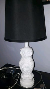 white and black table lamp Riverside, 92509