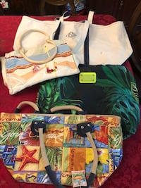 Beach bags-as is-all for $15 firm or $5 ea -includes LL bean and seafolly 264 mi