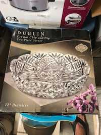 Beautiful crystal double two piece serving dish  Prairieville, 70769