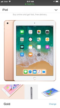 Brand new 32 g gold iPad, box never opened  Brampton, L6V