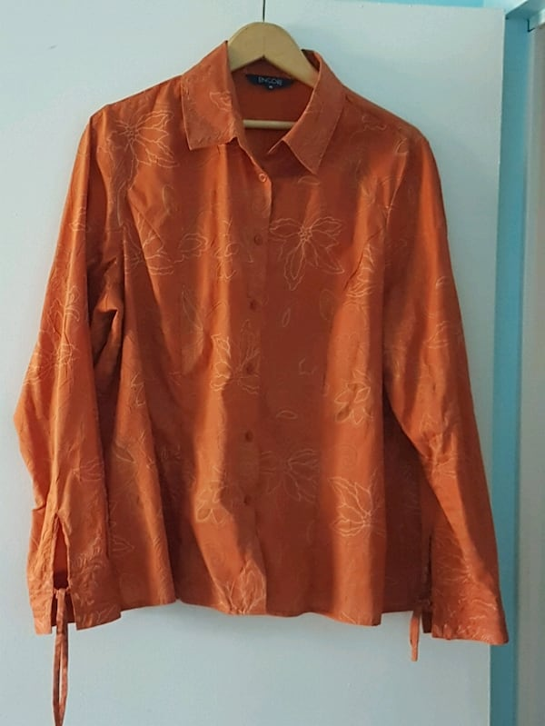 Orange with designs dress shirt  9b4b7ce6-e9b6-4c18-984e-22861ff131ce