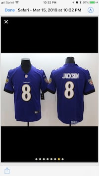 NFL NIKE Brand New Stitched On Field Baltimore Ravens Lamar Jackson XL and L Jersey. Available Now  Hanover, 21076