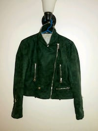 green and black leather jacket New York, 10029