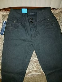 black denim straight-cut jeans 53 km