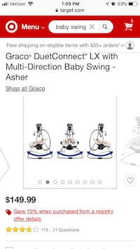 Baby Swing Graco Laurel, 20724