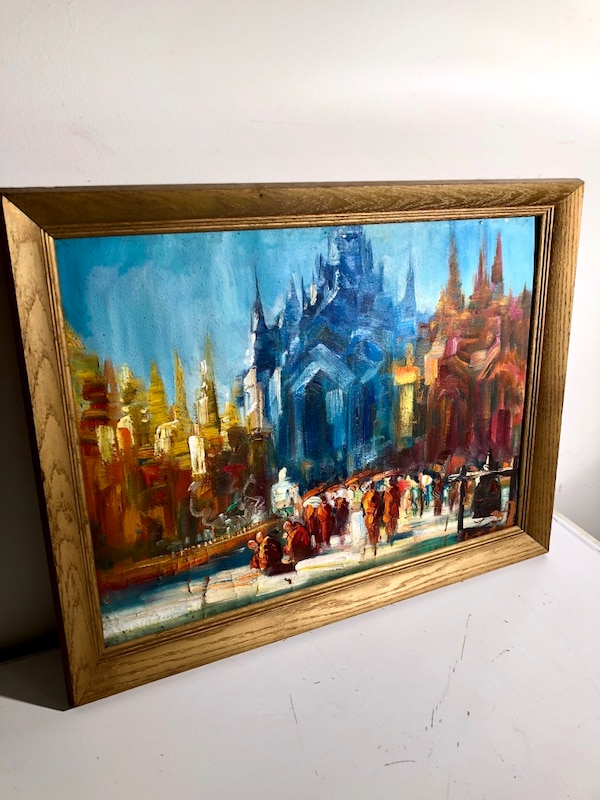 Framed Original Painting from Myanmar  6d47a6d3-1e53-450e-b280-dd36fef07a6a