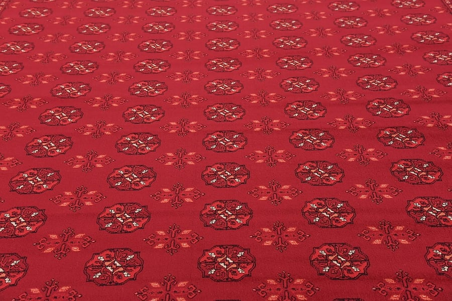 new Bokhara Afghan design rug Large size 9x13 red carpet Persian style 34b70e85-c539-4204-b566-cad3e6f34639