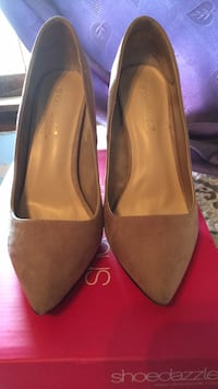 pair of black pointed-toe heeled shoes Sayreville, 08859