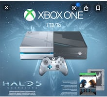 Xbox one 1tb/to halo 5 special edition. With games and headsets