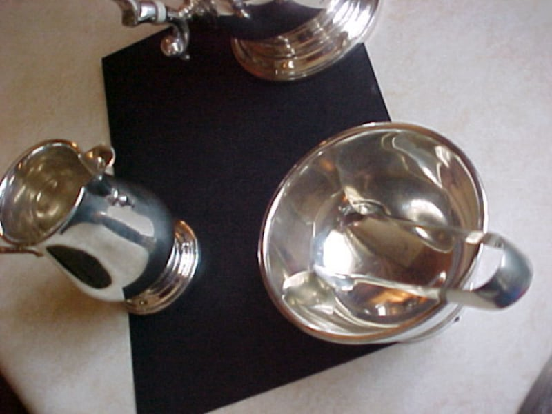 Birks Sterling Tea Pot {Coffee} Matching Cream Sugar  903839d1-186e-48b8-90b2-3574f319e613