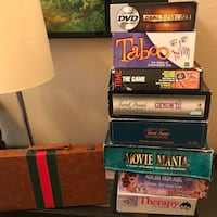 Assorted board game box lot
