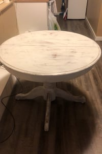 Distressed wood table
