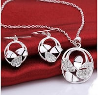 Spliced Hollow Out Earrings & Pendant Necklace Alexandria, 22304
