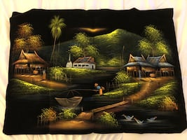 Hand painting on cloth
