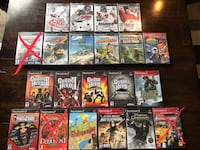 PS2 Games - $5 each or 5 games for $20, or $65 for all remaining 18 games! Wireless guitar - $10 Sioux Falls, 57103