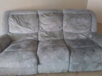 gray suede 3-seat sofa with recliner Thibodaux, 70301