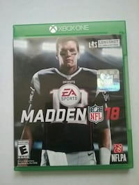 Madden NFL 18 Xbox One game case Perryville, 21903