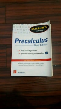 $5 Schaum's Outline of Precalculus 3rd edition Toronto, M6K 2B5