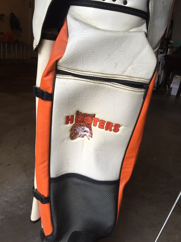 Hooters leather golf bag and cart 7bbf0dfd-7835-4a3f-8a06-ba7649a0fd74