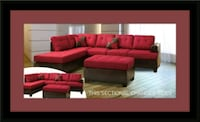 Red sectional with ottoman Beltsville, 20705