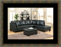 Black sectional with ottoma Woodbridge, 22191