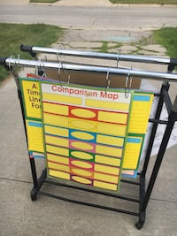 2 sided chart paper rack/ stand Midland, 48642