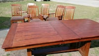brown wooden dining table set this is oak  West Columbia, 29169