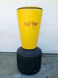 yellow and black Wave Master free standing punching bag Huntington Park, 90255