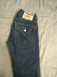 blue True Religion denim jeans Houston, 77084