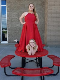 Red grad dress size 18 Beaumont, T4X 1J6