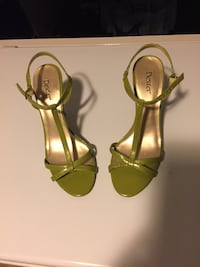 pair of green leather open-toe ankle strap heels Bethesda, 20817