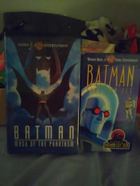 Batman vhs movies collectbales $15 take both  Miami, 33172