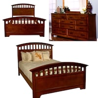 New King Mission Bed Frame and Dresser Mirror (CLOSE OUT) Only ..$699 Charlotte, 28216