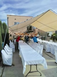 Party tent or reunion tent.