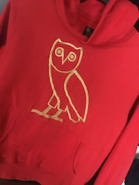SIZE LARGE Drake OVO Red OG Owl Gold Embroidered hoodie Summer 2017 Richmond Hill, L4E 4S4