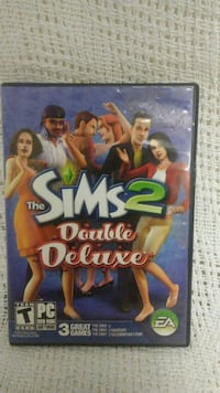 The Sims 2 double deluxe PC DVD game case