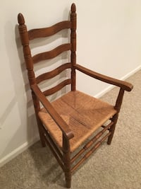 Wood chair with wicker seat Manassas, 20110