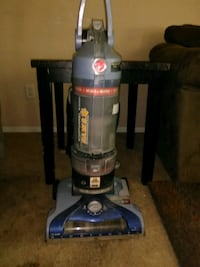 black and gray Hoover upright vacuum cleaner Clifton, 81520