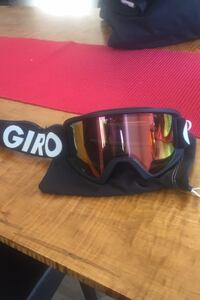 Giro Goggles with Semitransparent Fire Red lenses and protective case Barrington, 03825