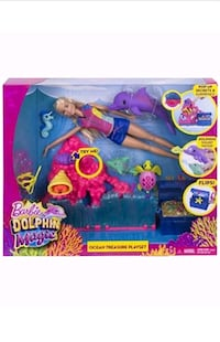 NIB Barbie Dolphin Magic Ocean Treasure Playset Ocala